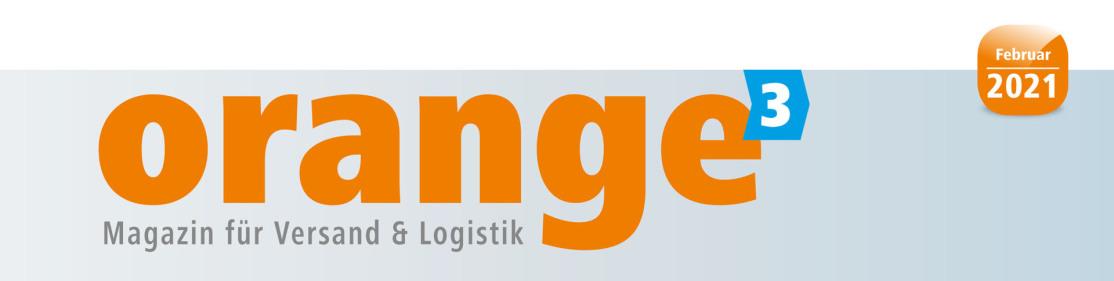 """Man liest das Wort orange in Kleinbuchstaben in riesigen Lettern auf grau/weißem Grund. Am Ende ist auf blauem Grund eine 3 für """"orange³"""". Oben rechts ist ein Button März 2018. Darunter ist noch ein Schriftzug."""