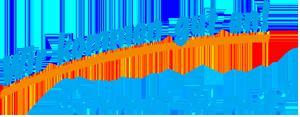 """DAs Logo """"Wir kommen gut an!"""" beendet die Seite: blaue Schrift, ein orangener Unterstrich."""